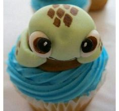 Turtle Cupcake. I love Squirt!