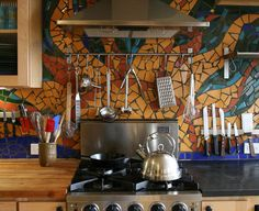 Kitchen Mosaic Backsplash Ideas 24 low-cost diy kitchen backsplash ideas and tutorials | kitchen