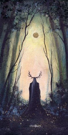 The Forest King by kinko-white / Thranduil Jrr Tolkien, Fantasy Creatures, Mythical Creatures, The Ancient Magus, O Hobbit, Arte Horror, Legolas, Lord Of The Rings, Dark Art