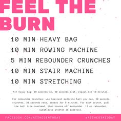 Feel the burn at the gym today! Put 100% into this workout and you will feel amazing. Exhausted but amazing. #atthegymtoday
