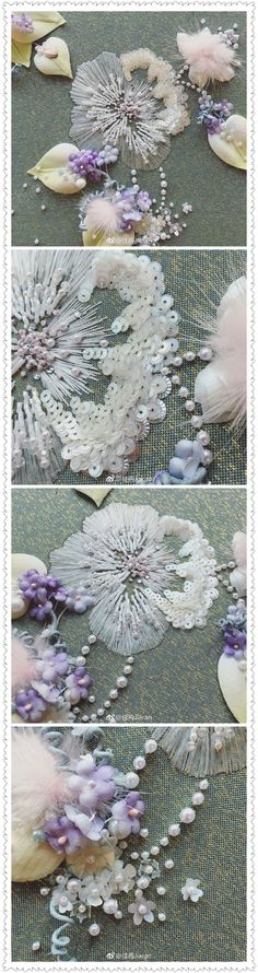 Embroidery with sequins