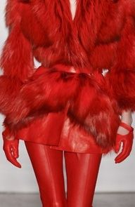 red fur coat- as long as its faux!