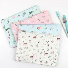 Aliexpress.com : Buy Sweet Forest Element Fox Deer Flamingo Swam A5 A4 Waterproof PU Leather File Folder Document Filing Bag Stationery Bag from Reliable a5 phone suppliers on House of Novelty