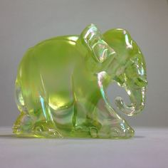 Topaz Satin   Working Elephant by Fenton Glass by Lovettsville