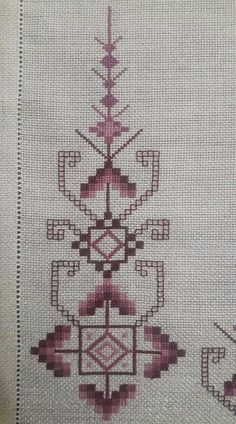 Nurhan Wool Embroidery, Hardanger Embroidery, Embroidery Patterns, Cross Stitch Embroidery, Cross Stitch Boarders, Tiny Cross Stitch, Cross Stitch Patterns, Bargello, Runner