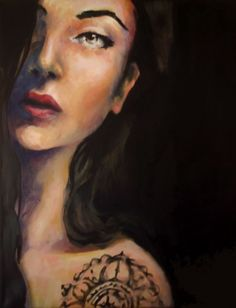 Katerina Christou is a figurative painter based in Thessaloniki, Greece. Her oilpaintings focus on the sensitivity and expressiveness of the female form. Thessaloniki, Portraits, Painting, Tattoos, Art, Art Background, Tatuajes, Painting Art, Kunst