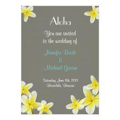 Hawaii Wedding Reception Hawaii Wedding Invitation