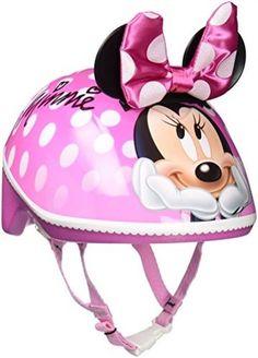 Toddler Bike Helmet 3D Kids Girl Pink Minnie Mouse Bike Safety Outdoor Play Fun…