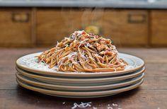 Jamie Oliver's veggie bolognese, loadsa veg, lentils & parmesan | Australian Natural Health Magazine