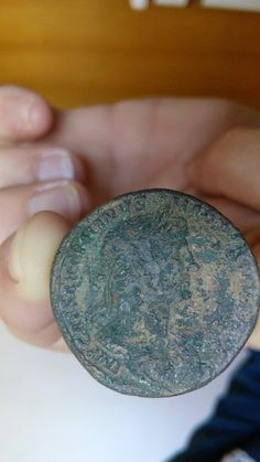 2000 year old Roman coin, my friend found in Pula suburbs 7th march 2015. !!  Augustus emperor 1.st century.