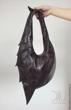 Кожаная сумка БРОНЕНОСЕЦ. Handmade.