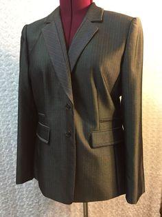 Tahari Women's Blazer Coat Size 14 Arthur S Levine Striped Career Business  | eBay