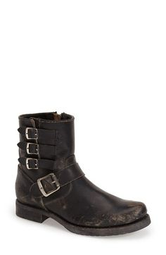 Free shipping and returns on Frye 'Veronica' Belted Ankle Boot (Women) at Nordstrom.com. A fusion of rustic style and moto edge blend perfectly on a weathered, round-toe bootie accented with rows of buckled straps.