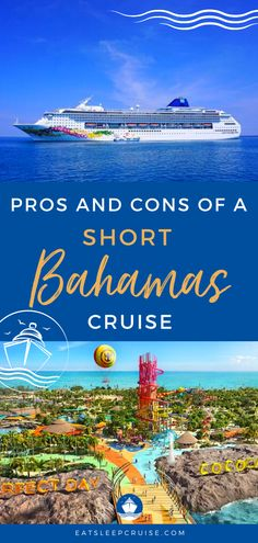 Why You Should Consider a Short Bahamas Cruise Vacation | Are you getting stir crazy? A short Bahamas cruise might be just what you need. No matter the cruise line (Carnival, Royal Caribbean, etc.), you'll see the popular cruise ports (Nassau, Freeport, etc.) plus the cruise line's private island. But there are disadvantages too. Check out our post for the pros and cons and you'll be ready to book as soon as cruising resumes. #Bahamas #BahamasCruise #CruiseVacation #ShortCruise… Bahamas Vacation, Bahamas Cruise, Vacation Days, Cruise Port, Cruise Vacation, 3 Day Cruises, Navigator Of The Seas