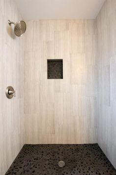 Do it yourself pebble shower floor phi pinterest pebble shower pebble shower floors over fiberglass stall solutioingenieria Choice Image