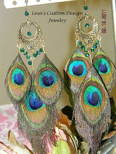Hey, I found this really awesome Etsy listing at https://www.etsy.com/listing/80260063/peacock-feather-chandelier-earrings