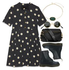 """Untitled #6311"" by rachellouisewilliamson on Polyvore featuring Yves Saint Laurent, Dr. Martens and Topshop"