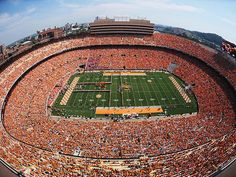University of Tennessee Neyland Stadium ~ My awesome girlfriend took me to my first Vols game on She scored us free tickets and free VIP parking.She's so amazing! Tn Vols Football, Tennessee Volunteers Football, Tennessee Football, Football Stadiums, College Football, Football Season, Tennessee Knoxville, Oklahoma Sooners, University Of Michigan Campus