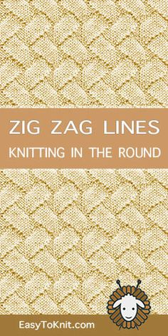 Knit Purl pattern in the round -FREE Lace Knitting Patterns, Knitting Stiches, Doily Patterns, Loom Knitting, Crochet Stitches, Baby Knitting, Stitch Patterns, Knit Purl, How To Purl Knit
