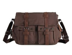 Fashion canvas and leather messenger bag Best Canvas 794ee7792f41d