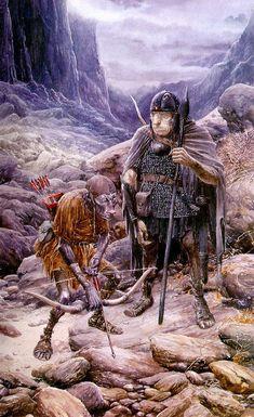 Alan Lee, The Orcs, acquarello