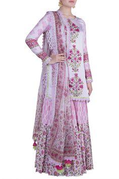 Mauve Block Printed Gharara Set Design by Maayera Jaipur at Pernia's Pop Up Shop Dress Indian Style, Indian Outfits, Jaipur, Mauve, Sharara Designs, Celebrity Closets, Indian Fashion Designers, Pernia Pop Up Shop, Lehenga