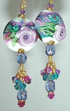 Exquisite beaded dangle earrings. Craft ideas from LC.Pandahall.com