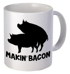 Makin' Bacon Funny Coffee Mug Special Gifts For Him, Surprise Gifts For Him, Bday Gifts For Him, Thoughtful Gifts For Him, Romantic Gifts For Him, Personalised Gifts For Him, Valentines Day Gifts For Him, Gifts For Dad, Fathers Gifts