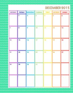 """2015 Month Planner Printable Pages - INSTANT DOWNLOAD PDF - 7"""" x 9"""" pages by Cucawik on Etsy"""