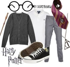 HP: Harry inspired outfit by Disneybound at:  http://disneybound.tumblr.com/