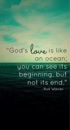 God's love is like an ocean.