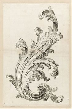 File:Alexis Peyrotte - Acanthus Leaf Design - Google Art Project.jpg: