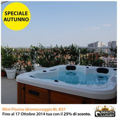 Fall 2014 Special - Beauty Luxury Hot tub spa BL-837 with 25% discount! Offer valid until October 17, 2014.  Request a free quote!  http://www.beauty-luxury.com/it/mini-piscina-idromassaggio-bl-837-p-5.html