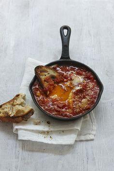 Eggs in Purgatory #recipe from Nigellissima by @Nigella Lawson #brunch #eggs