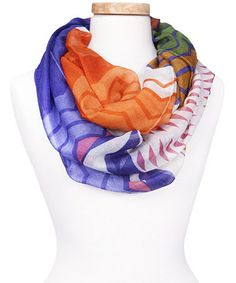 Love this Orange Bright Safari Infinity Scarf by Tickled Pink on #zulily! #zulilyfinds