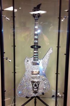 """My newest acquisition, one of Paul Stanley's USA Washburn Custom Shop - PS2000 Rhinestone """"Millennium"""" Guitars - Owned & Played onstage by Paul w/COA Signed By Paul Stanley - Made w/real Swarovski Crystals"""