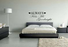 Always Kiss Me Goodnight Wall Decal - Home Decor #decal #wallart #love #kiss