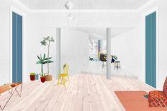 fala atelier, Chiado apartment, collage