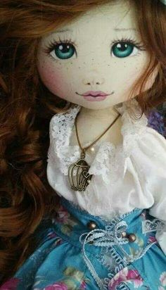 Doll - image only Pretty Dolls, Cute Dolls, Beautiful Dolls, Doll Face Paint, Doll Painting, Bjd Doll, Doll Eyes, Doll Tutorial, Sewing Dolls