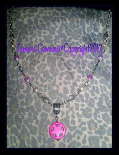 Beautiful Wiccan Goth Hand Beaded Pink Pentagram by TheFleshArtist, $28.00