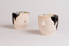 Stoneware empty Vessel cups.Bare non porous clay outer with anthrocite 'hair' and speckled cobalt inner decoration.Sizes and personality may vary. Cups are stackable but each order contains one cup.Sometimes there may be a small wait if I am out of stock but I will notify you how long. No more than 2 weeks generally.