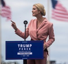 Ivanka Trump leaves her home in a cornflower blue skirt suit   Daily Mail Online