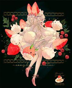 20 Ideas for how to draw food kawaii design reference Art Anime Fille, Anime Art Girl, Manga Art, Anime Girls, Anime Chibi, Art Kawaii, Kawaii Anime, Kawaii Drawings, Cute Drawings