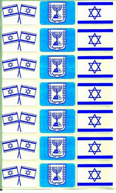 Judaica Atzmaut Menorah Flag Stickers Kids Teaching Aid Israel Educational…