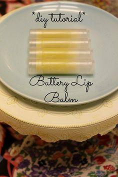 DIY Homemade Buttery Lip Balm  www.faulkfarmstead.com