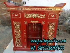 Tempat jual meja altar sembahyang   BERKAH MEBEL JEPARA Altar, Shabby Chic, China, Jakarta, Antiques, Furniture, Home Decor, Antiquities, Antique