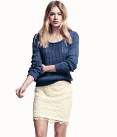 Fashion and quality clothing at the best price H&m Fashion, Fashion Models, Fashion Online, Fashion Dresses, Mode Lookbook, Fashion Lookbook, Cute Skirts, Mini Skirts, Lace Skirt