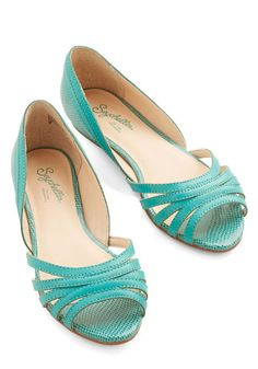 Plan Ahead Flat in Teal by Seychelles - Flat, Leather, Solid, Work, Daytime Party, Better, Strappy, Blue, Variation