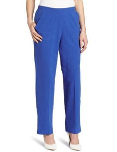 Alfred Dunner Women's Proportioned Patch Pocket Pant, Blue, 18 Alfred Dunner. $23.65