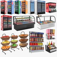 Bakery Display Case, Bread Display, Single Door Fridge, Single Doors, Door Displays, Fruit Displays, Pepsi Fridge, Coca Cola, Coffee Shop Business